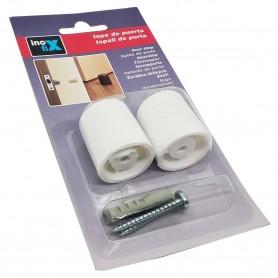 Topes blanco Inofix para puertas 2 unidades para atornillar
