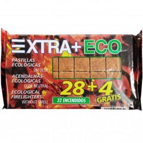 Pastillas Ecológicas de cartón y aceites para encender Chimeneas y Barbacoas, máxima duración.