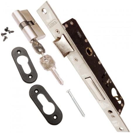 Cerradura LINCE 5530 para embutir en puertas de aluminio.