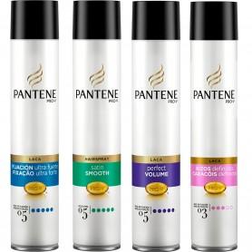 Lacas para el Cabello Pantene Pro-V, Laca Pantene volumen perfecto, rizos definidos, extrafuerte,  suave y liso.