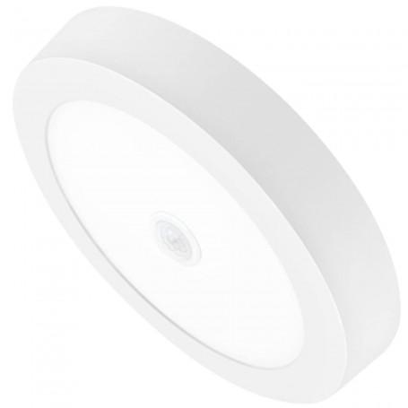 Downlight LED 18 W, Matel, Panel Superficie redondo, con sensor movimiento o presencia.