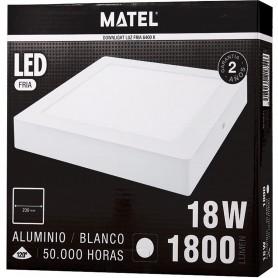 Panel de Luz Downlight LED Cuadrado de Superficie Matel