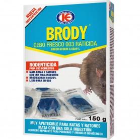 Raticida Ratas y Ratones, Brody, Cebo fresco Brodifacoum, Impex Europa
