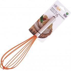 Batidora Acero Inox. y Silicona LifeStyle, para montar merengue, nata, huevos, batidora manual de repostería.