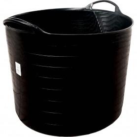 Capazo, capacidad 42 litros, cesta grande multiusos de plástico engomado.