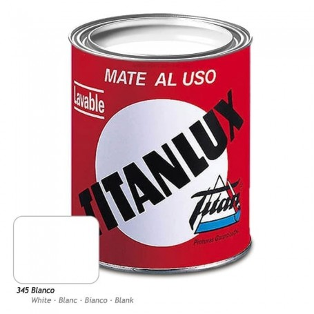 Esmalte Sintético Blanco o Negro. Titanlux Brillante/Mate - Titanlak Satinado