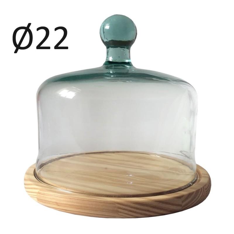 Quesera Tradicional Cristal Reciclado 22cm