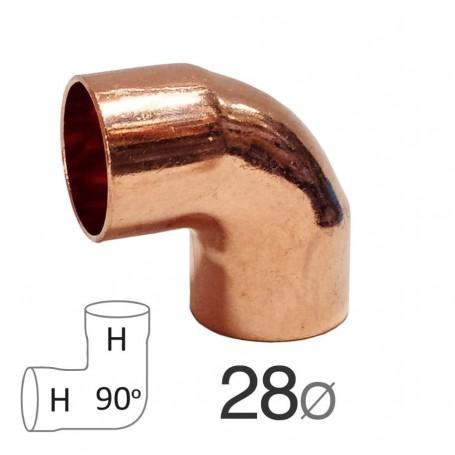 Codo curva Cobre 90º Hembra-Hembra fontanero fontanería soldar agua gas Sevilla Tomares Estaño