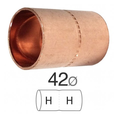 comprar manguito Cobre Hembra-Hembra para soldar y unir tubos de cobre en instalaciones de fontaneria