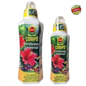 Compo Universal Fertilizante plantas y jardín dos formatos medio litro y un litro