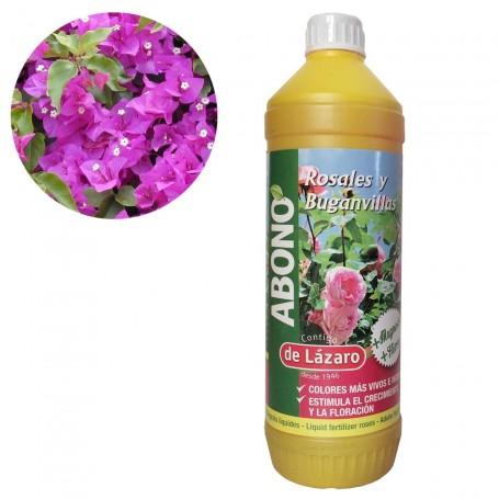 Abono Líquido Rosales y Buganvillas, arbustos de Flor y Trepadoras De Lázaro