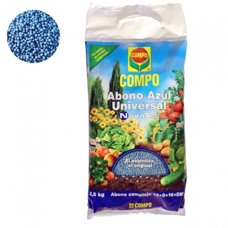 Comprar Abono Granulo bolitas azul plantas Jardín, huerta, arboles, arbustos, rosales, césped COMPO