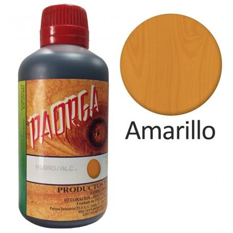 Tinte Amarillo Hidroalcohólicos para madera Paorga