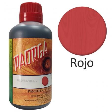 Tinte Rojo Hidroalcohólicos para madera Paorga