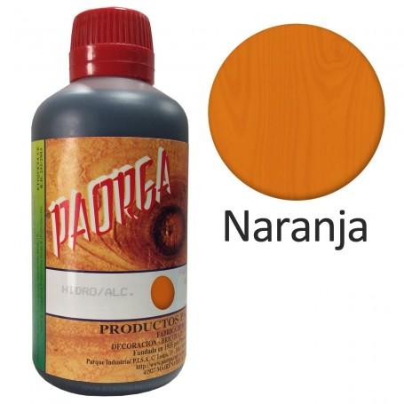Tinte Naranja Hidroalcohólicos para madera Paorga