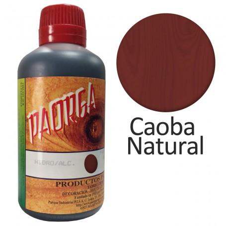 Tinte Caoba natural Hidroalcohólicos para madera Paorga