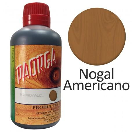 Tinte Nogal Americano Hidroalcohólicos para madera Paorga