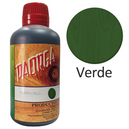 Tinte Verde Paorga. Comprar Tintes Hidroalcohólicos. Tinte al alcohol.  Bricolaje