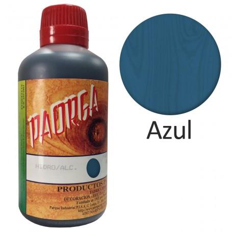 Tinte Azul Paorga. Comprar Tintes Hidroalcohólicos. Tinte al alcohol.  Mejor precio. Trabajos de Bricolaje