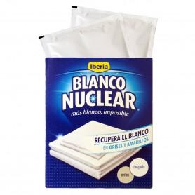 Comprar  Sobres Blanco Nuclear Iberia, desamarillea, quita amarillo ropa lavado, ropa amarilla gris lejía cal.