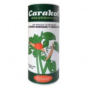 Carakol Molusquicida (Insecticida para moluscos) para matar plagas de caracoles y babosas en la huera y jardin.