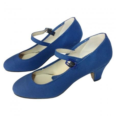 Zapato de Gitana o Flamenca Tela