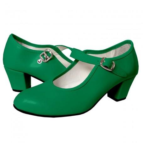 Zapato verde de Flamenca Sevilla Tomares