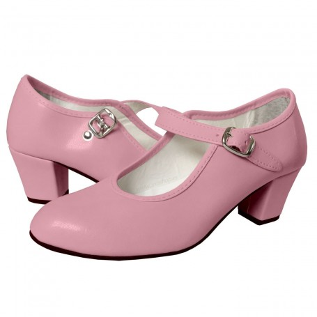 Zapato Rosa de Flamenca Feria de Abril