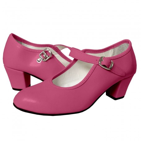 Zapato Rosa Fuxia de Flamenca Tomares