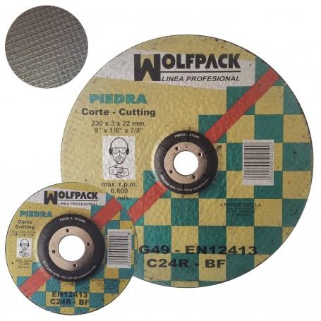 Disco Corte Piedra Wolfpack ladrillo, losa