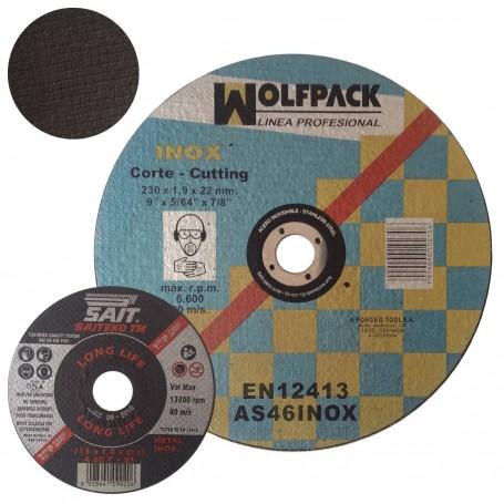 Disco Corte Metal Inox. larga duración