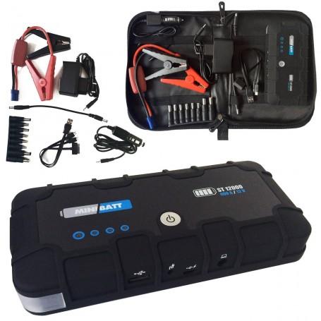 MiniBatt 12T -  Arrancador cargador batería coches, motos.