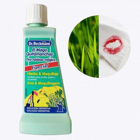 Quitamanchas hierba, maquillaje, colorete, pintalabios