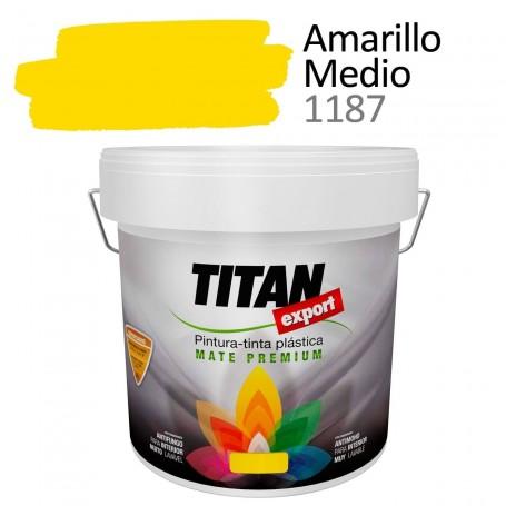 Tintan Export Pintura Plástica Amarillo Medio 4 litros