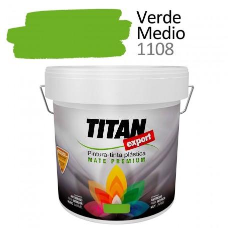 Tintan Export 4 litros verde medio 1108Pintura Plástica interior mate Sevilla, Tomares. Tienda de pinturas Arca de Noé