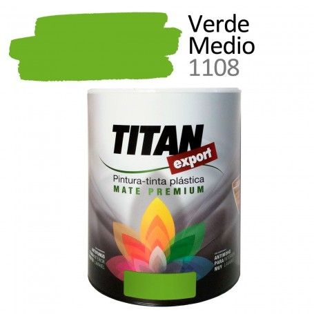 Tintan Export 750 ml verde medio 1108 Pintura Plástica interior mate Sevilla, Tomares. Tienda de pinturas Arca de Noé