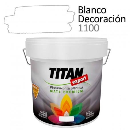 Tintan Export 4 litros Blanco decoración 1100 Pintura Plástica interior mate Sevilla, Tomares.