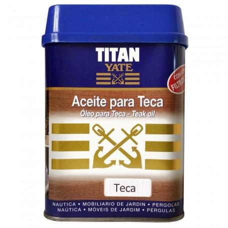 Aceite TITAN YATE color teca para madera
