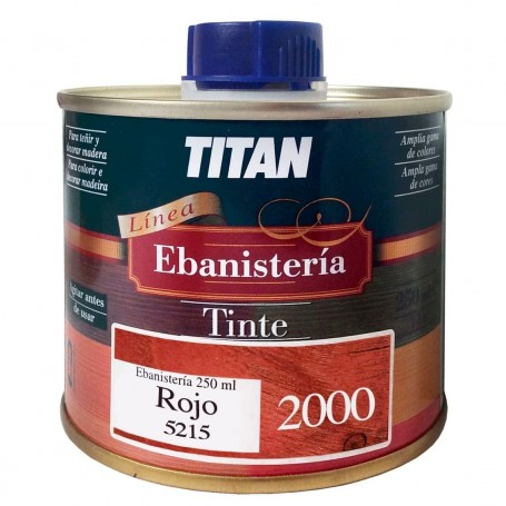 Tinte Rojo  Ebanisteria 2000 Titan madera