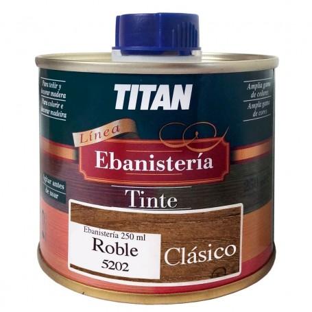 Tinte Ebanisteria Clásico Titan. Hidroalcohólico. Roble