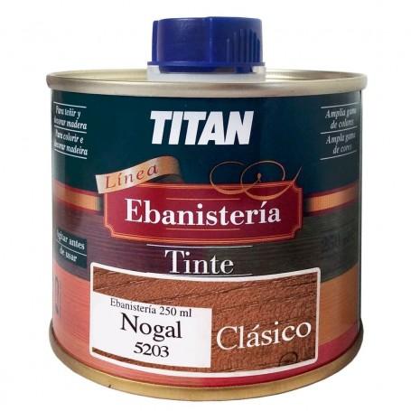 Tinte Ebanisteria Clásico Titan. Hidroalcohólico. Nogal