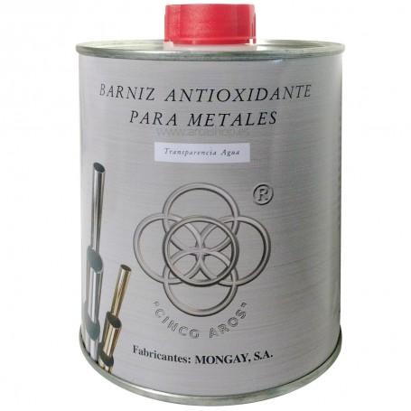 Barniz Metales cobre, a latón, aluminio, plata, niquelados, cromados. Cofradias