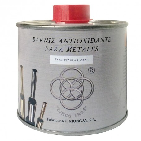 Barniz Metales cobre, latón, aluminio, plata, niquelados, cromados. Protección metales y antioxidante