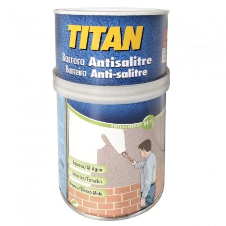Antisalitre Titan barrera impermeable para el salitre a través de paredes y techos en hormigón, cemento, ladrillo