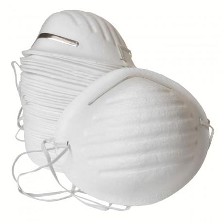 Mascarilla de Papel. Evitar respirar sustancias como serrín, polvo, polen o virus. También apta para alergia. Centros médicos.