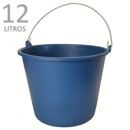Cubo Goma Azul 12 litros