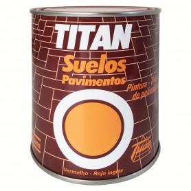 Esmalte Titan Suelos Pavimentos Rojo Inglés