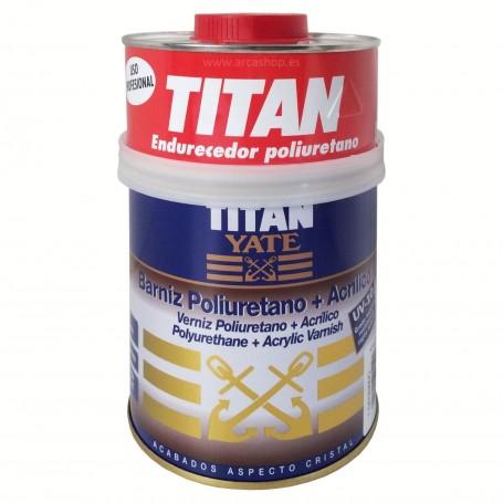 Barniz poliuretano + acrílico. Titan Yate.
