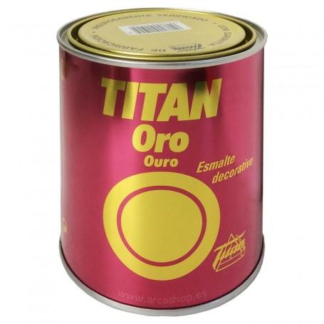 Pintura Esmalte Titan ORO. Esmalte de decoración y Manualidades