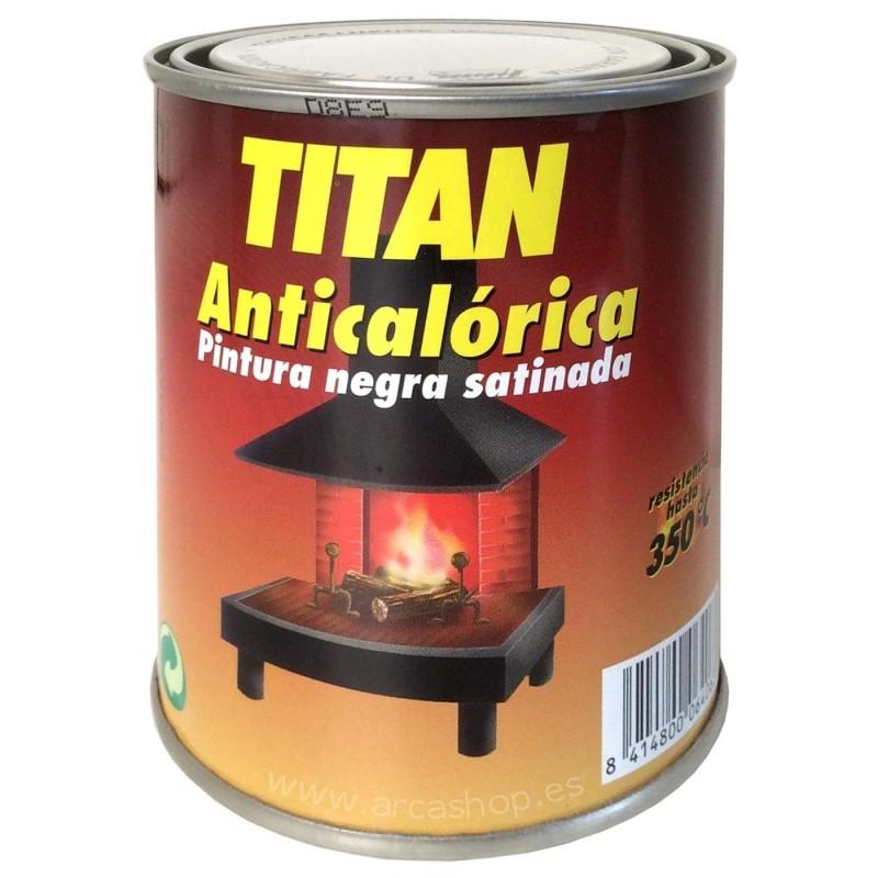 Pintura Anticalórica Titan. Negro Satinado.